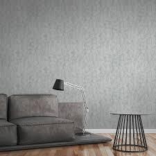 helle beton tapete mit rauer oberflächen optik grau
