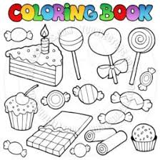 Printable Candy Coloring Pages For Kids Adult