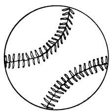 Baseball Coloring Sheet