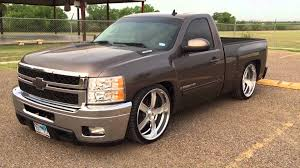 2008 Chevy Silverado 6 8 dropped on 24 in Intro Flow wheels