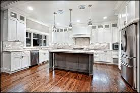 KitchenAmazing U Shape White Kitchen Cabinets With Grey Island Combine Marble Countertop Over