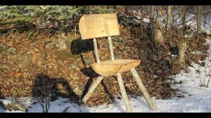 Bush Craft Camp Furniture With Home Made Auger