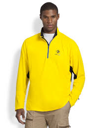 polo ralph lauren rlx jersey half zip pullover in yellow for men