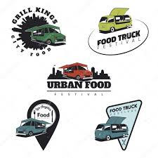 100 Truck Emblems Set Of Food Truck Emblems Icons And Badges Stock Vector