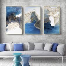 haochu moderne einfache abstrakte leinwand dekoration malerei wohnzimmer 3 sätze kombination sofa wand kunst restaurant schlafzimmer wandbilder