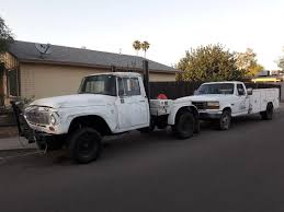 100 Vintage International Harvester Truck Parts 1965 D1100 On 1993 Ford F350 Chassis Swap