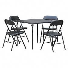 Plastic Dev Group 5pc Folding Table Set Black #plasticfoldingchairs ...