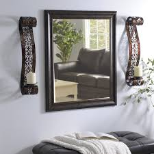 Decorate With Wall Sconces On Either Side Of Mirror