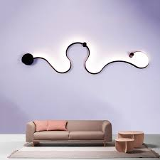creative led wall l nordic ls decoration of bedroom