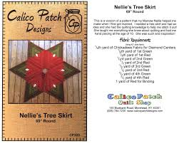72 Inch Christmas Tree Skirt Pattern by Christmas Quilt Patterns Erica U0027s Craft U0026 Sewing Center