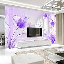 personalisierte tapete lila lilie stereoskopische blume