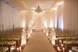 White Vintage Wedding Candles Indoor Ceremony At The Villa
