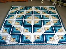 Ravelry Autumn Log Cabin Throw pattern by Red Heart Design Team