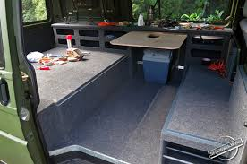 Finishing The Bed Platform And Adding Removable Table To Van