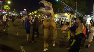 West Hollywood Halloween Parade by West Hollywood Halloween 2015 Run T Rex Run Youtube