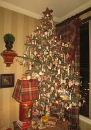 This Christmas Tree Is Hung With A Large Collection Of Antique Mostly German Blown Glass Figural Ornaments And 7 Tall Standing On An Wicker