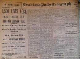 Lusitania Sinks In Real Time by Bradford U0027s Victims And Survivors Of The Tragic Lusitania