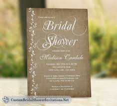 Vintage Vines Rustic Bridal Shower Invitations