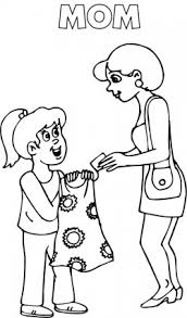 Mother An D Daughter Coloring Pages