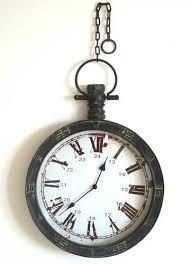 montre de cuisine déco wc grande style ancienne horloge murale de gare d usine