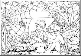 Amazing Adult Fairy Coloring Pages With Hard For Adults And Mandala