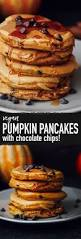 Pumpkin Pancakes With Gluten Free Bisquick by Fluffy Chocolate Chip Pumpkin Pancakes Vegan Wallflower Kitchen