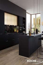 offene wohnküche design küche in schwarz matt küchen
