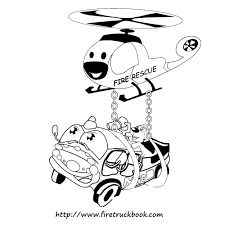 Fire Truck Coloring Pages | Fire Truck Book - Children Learn From ...