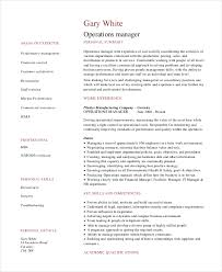 Security Operations Manager Resume Sample