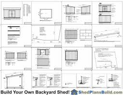 12x16 Storage Shed Plans by 12x16 Lean To Shed Plans By Shed Plans Build