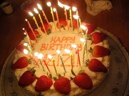 Birthday Cake Many Candles Candles wall Happy Birthday Wallpaper