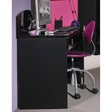 bureau noir laqué bureau enfant priscilla coloris noir laqué bri achat vente