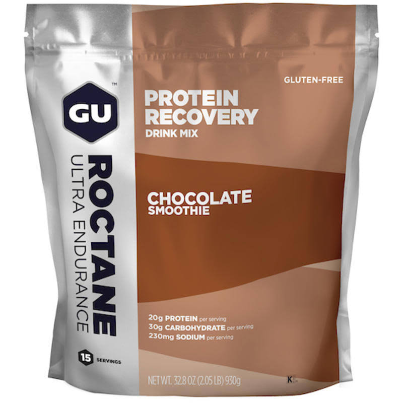GU Roctane Protein Recovery Drink Mix - 15 Serving - Chocolate Smoothie