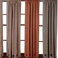 Checkered Flag Window Curtains by Country Style Drapes And Swags From Ihf And Park Designs