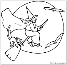 Halloween Witch 1 Coloring Page