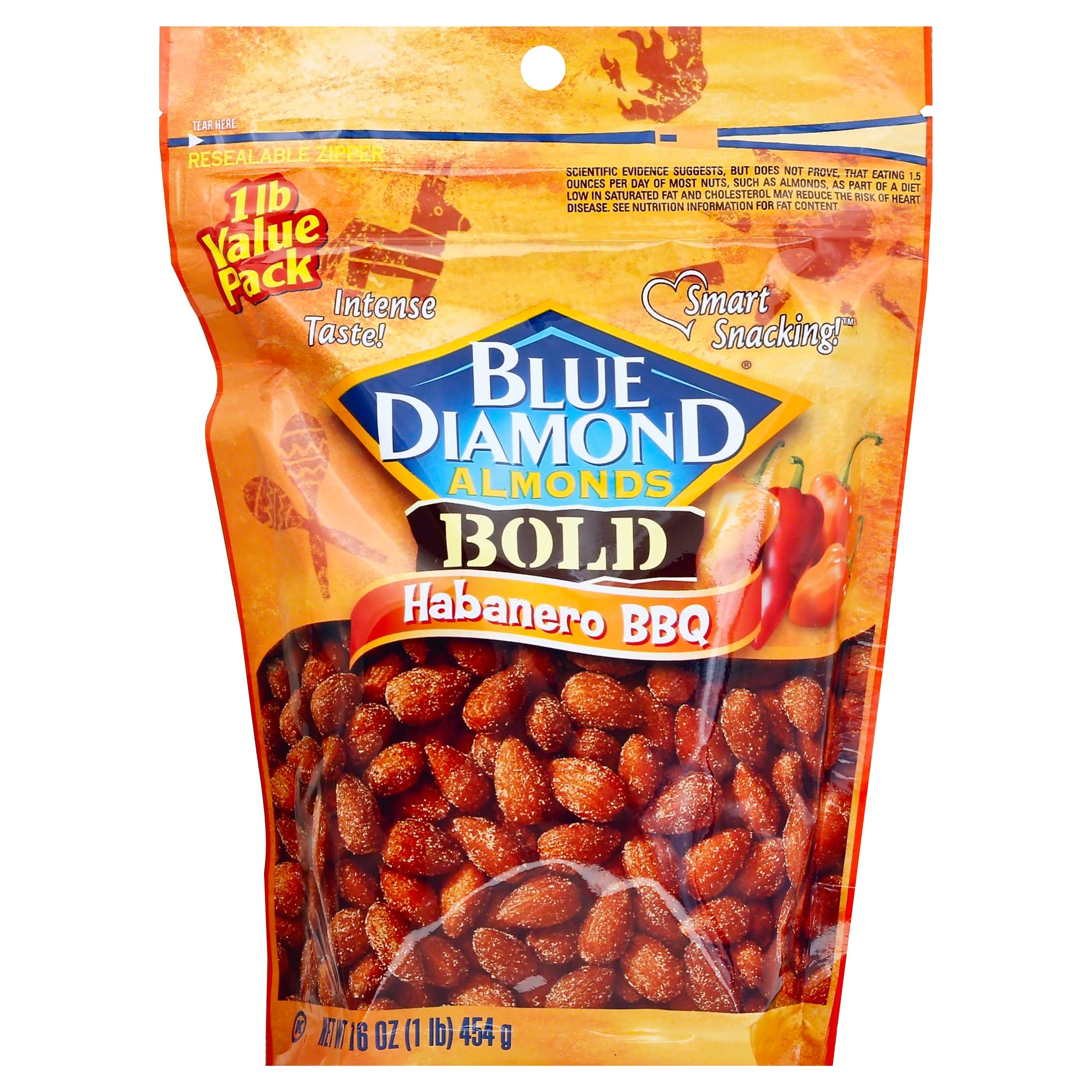 Blue Diamond Bold Almonds - Habanero BBQ, 16oz
