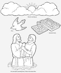 Baptism Coloring Pages AZ
