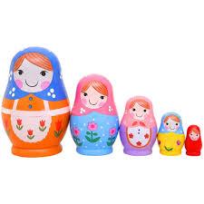 100 Matryoshka Kitchen Monnmo 5Pcs Handmade Wooden Russian Nesting Dolls