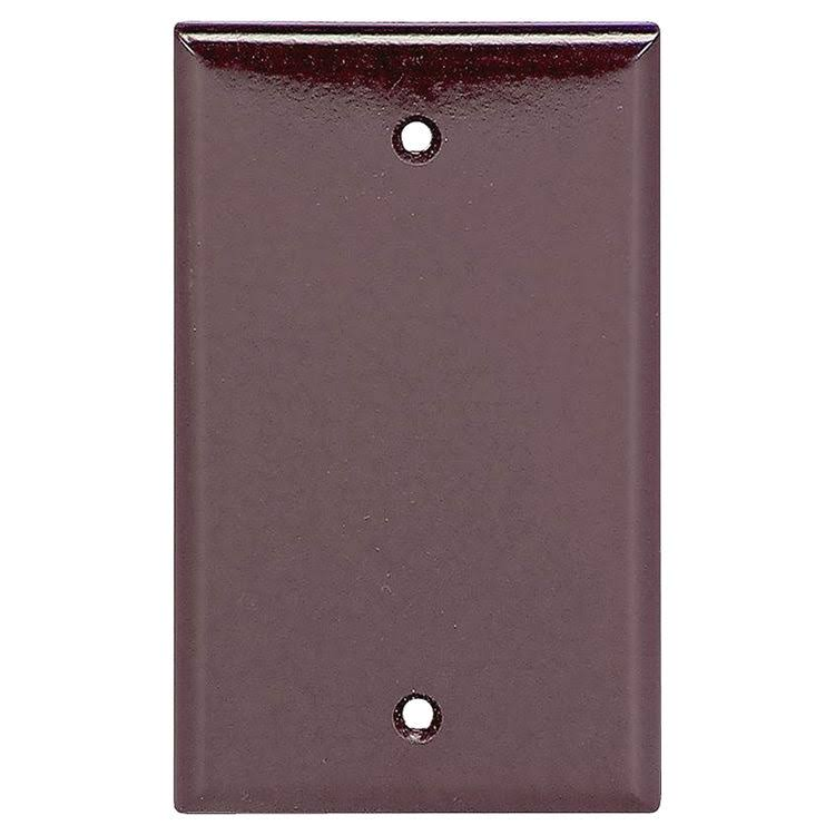 Cooper Wiring Devices One Gang Blank Plate - Brown
