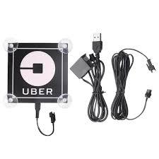5v Uber Led Service Lamp Car Sign Logo Sticker Usb Flashing