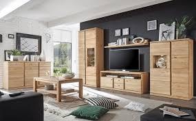 expendio wohnzimmer set lanciano spar set 6 tlg wildeiche bianco teilmassiv vormontiert mit beleuchtung kaufen otto