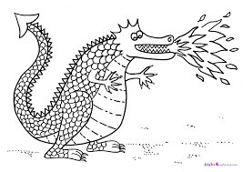 Coloring Pages Animals Sea Serpent Dragon Page