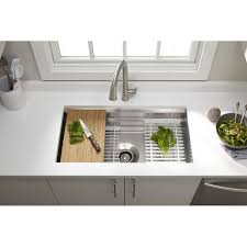 Kohler Farm Sink Protector by Kitchen Sinks Beautiful Stainless Steel Dish Drying Rack