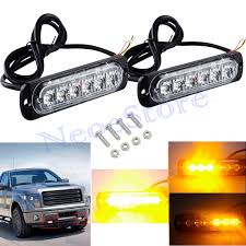 2X 6LED Amber Strobe Flashing Recovery Lights Car Truck Bright ... 95 Inch Led White Amber Bar Truck Strobe Flash Light Warn Buyers Products Hidden 2pc Set 47 Best Led Lights Kits Emergency New 6 4 Amber Strobe Emergency Truck Light Amb6 As Hqrp 32 Traffic Advisor 44 High Intensity Law Enforcement Hazard Warning Ford Resource Malaysia Peterson Launches New Strobe Lights News 4x Car Beacon 63 Amberwhite Grille Vehicle 3
