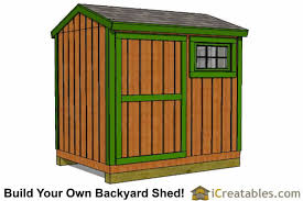 6x8 Wooden Storage Shed by 6x8 Shed Plans Storage Shed Plans Icreatables Com