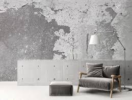 trend tapete mit betonoptik