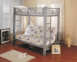 Twin over Futon Bunk Bed Wood — Modern Storage Twin Bed Design