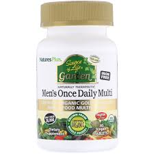 100 Daily Source Natures Plus Of Life Garden Mens Once Multi 30 Vegan Tablets