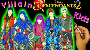 DISNEY DESCENDANTS 2 Color MAL EVIE JAY CARLOS BEN A Wickedly Cool Coloring Book