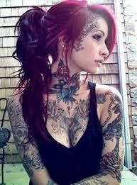 Women Pattern Neck Tattoos